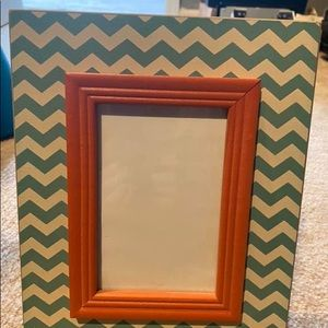 Teal and orange 4X6 frame